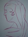 Mädchenkopf im Profil